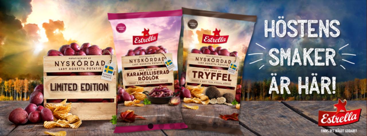 Nya veganska chips från Estrella