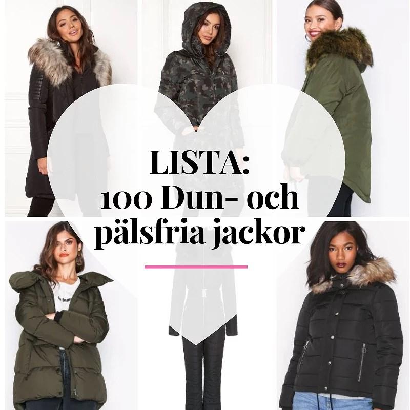 100 dunfria vinterjackor utan päls 2018