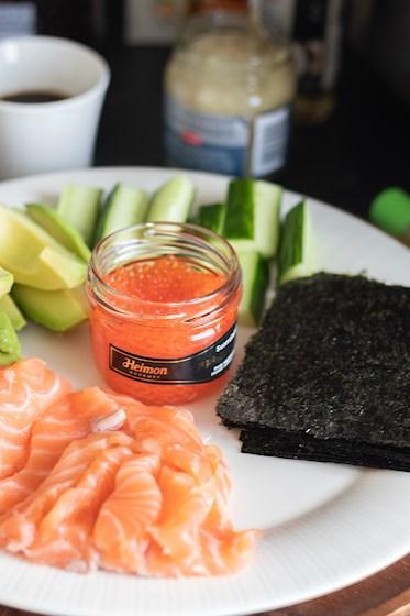 helppo sushi resepti temaki