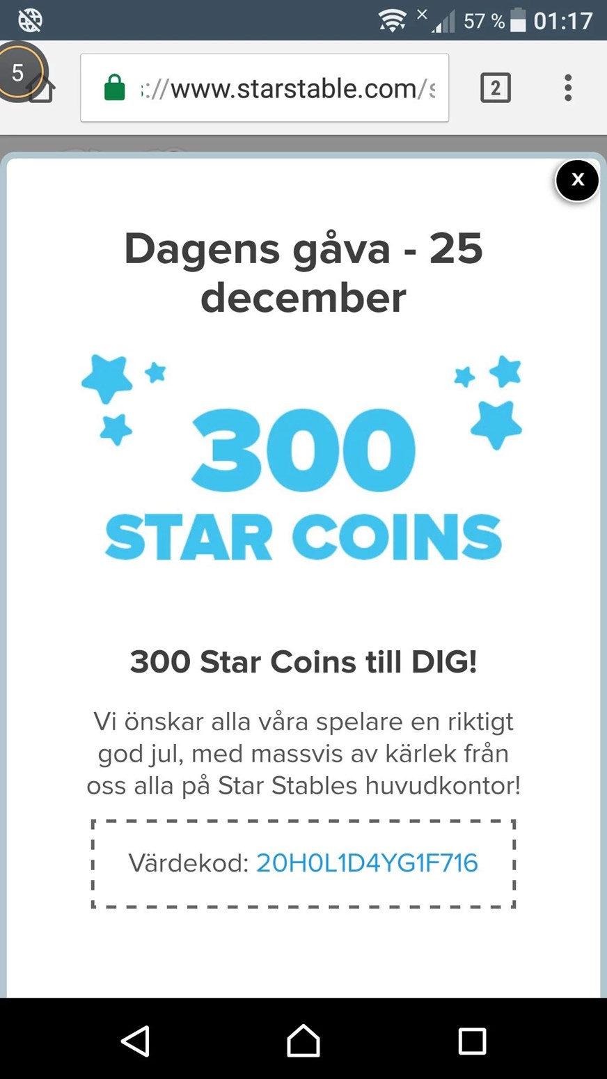 Stars coupons