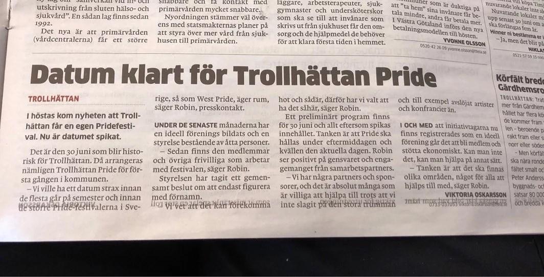 PRIDE TILL TROLLHÄTTAN