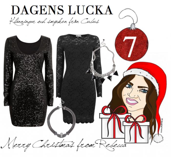 Lucka nr 7 : Klänningar och smycken från Cubus