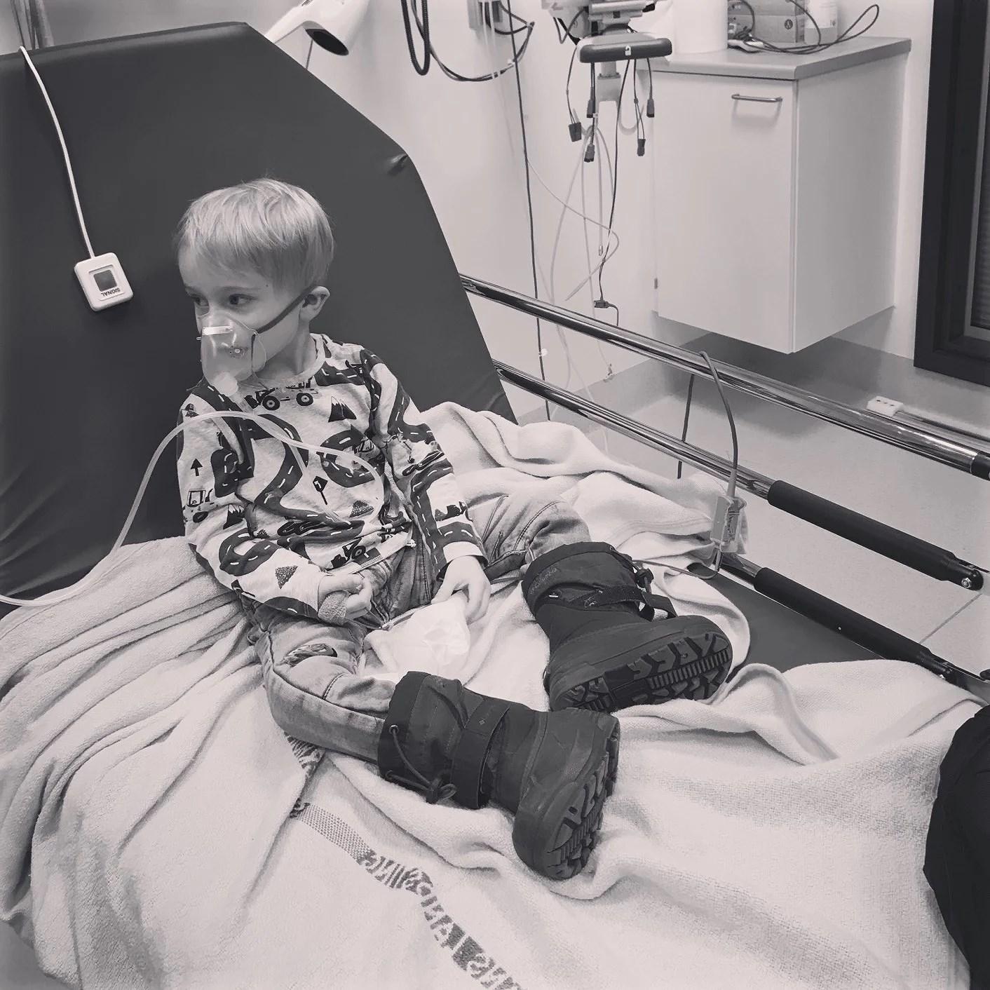 När vi låg på sjukhus......