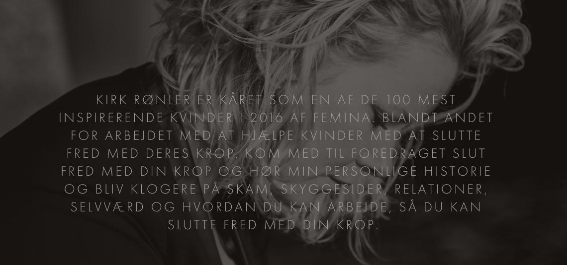 """""""SLUT FRED MED DIN KROP"""" - KIRK RØNLER // KONKURRENCE"""