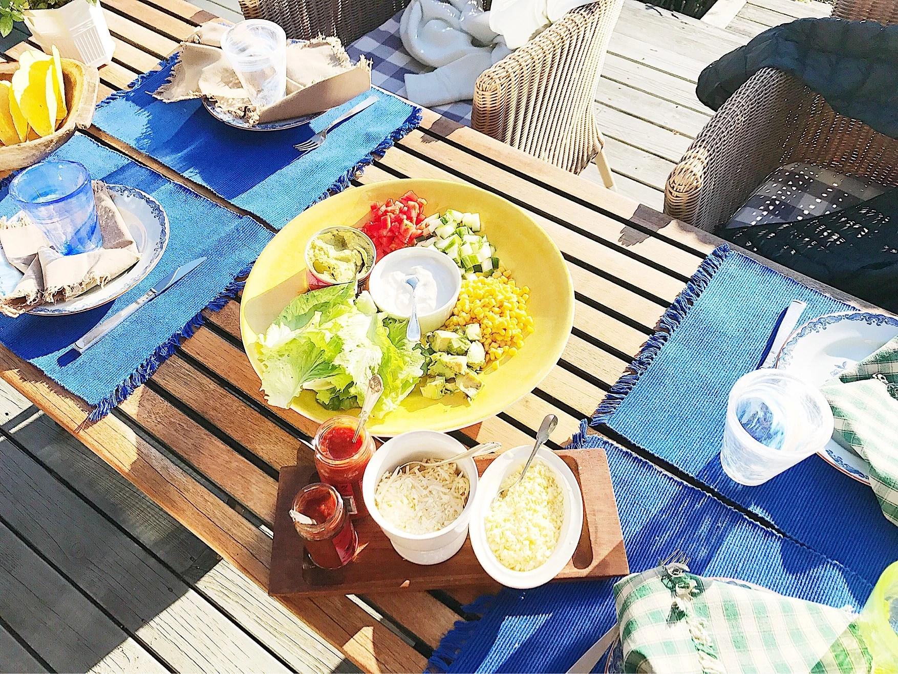 Taco-kväll hos Morfar