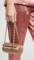 CHANEL SATIN CIRCLE BAG CYLINDER BAG