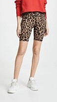 LNA leopard print biker shorts