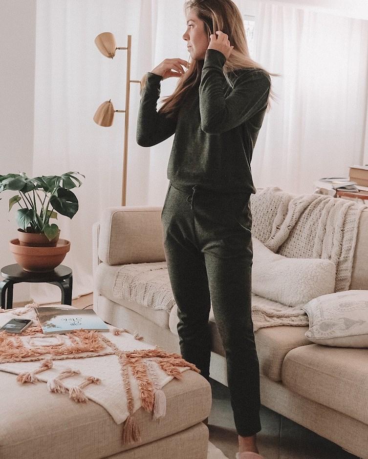 Khaki Loungewear Tracksuit Set - Maria Femmeluxefinery
