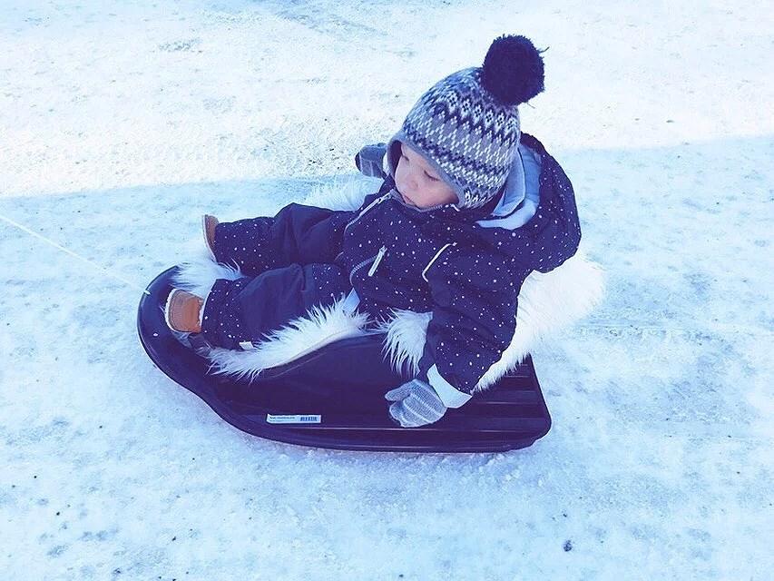 Pulka i snön