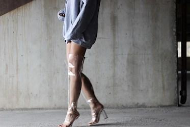 clear boots ylipolven saappaat style inspiration stylisti katumuoti eeva roots transparent boots läpinäkyvät saappaat