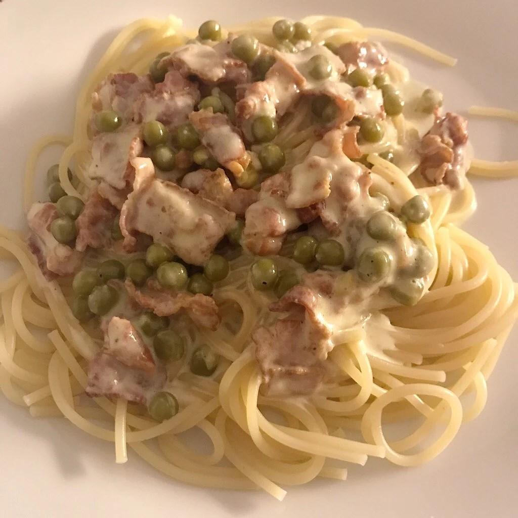 Snabbt, enkelt och gott - Spagetti med baconsås