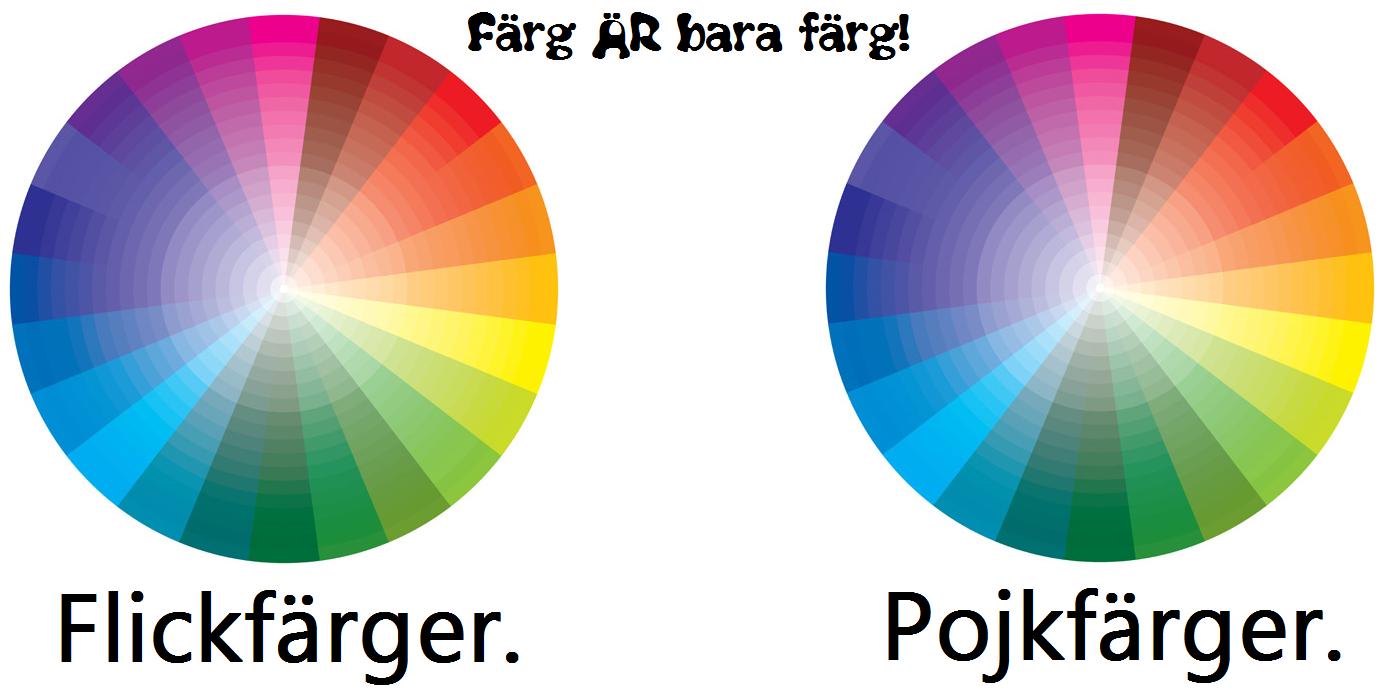 Flickfärger & pojkfärger.