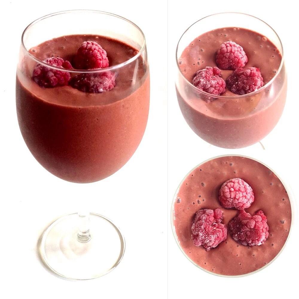Svalkande choklad-dryck