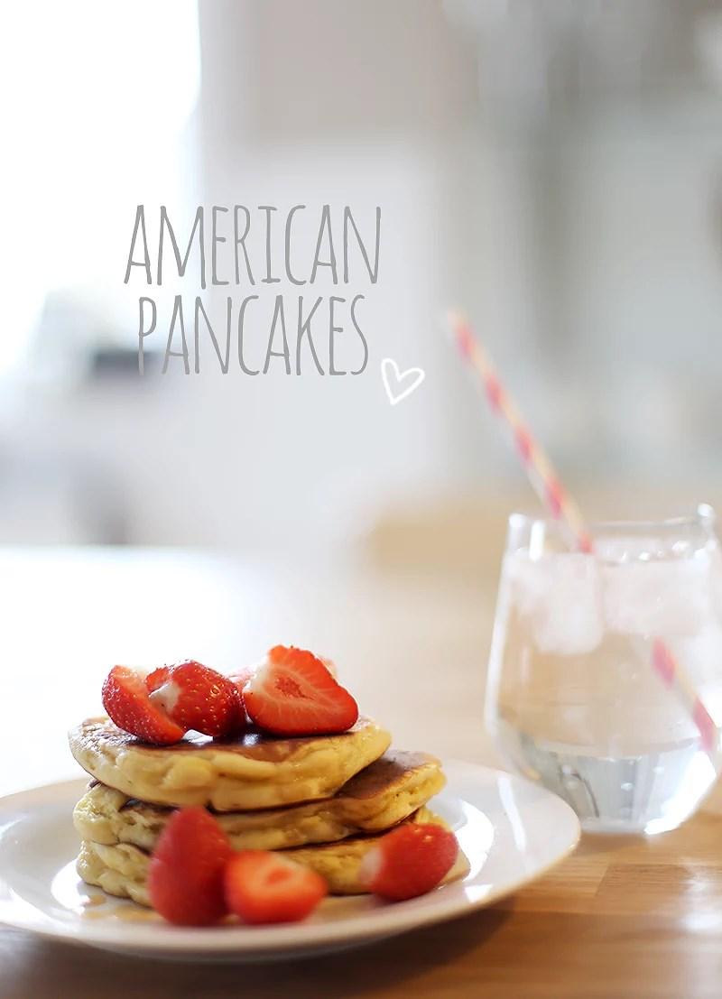 krist.in american pancakes oppskrift amerikanske pannekaker jordbær mat blogg