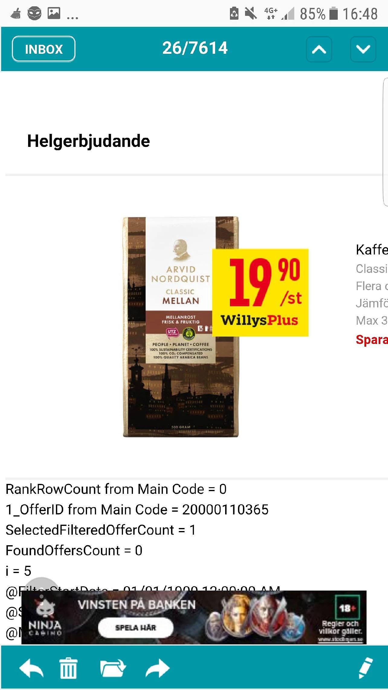 Willys jätte billigt kaffe