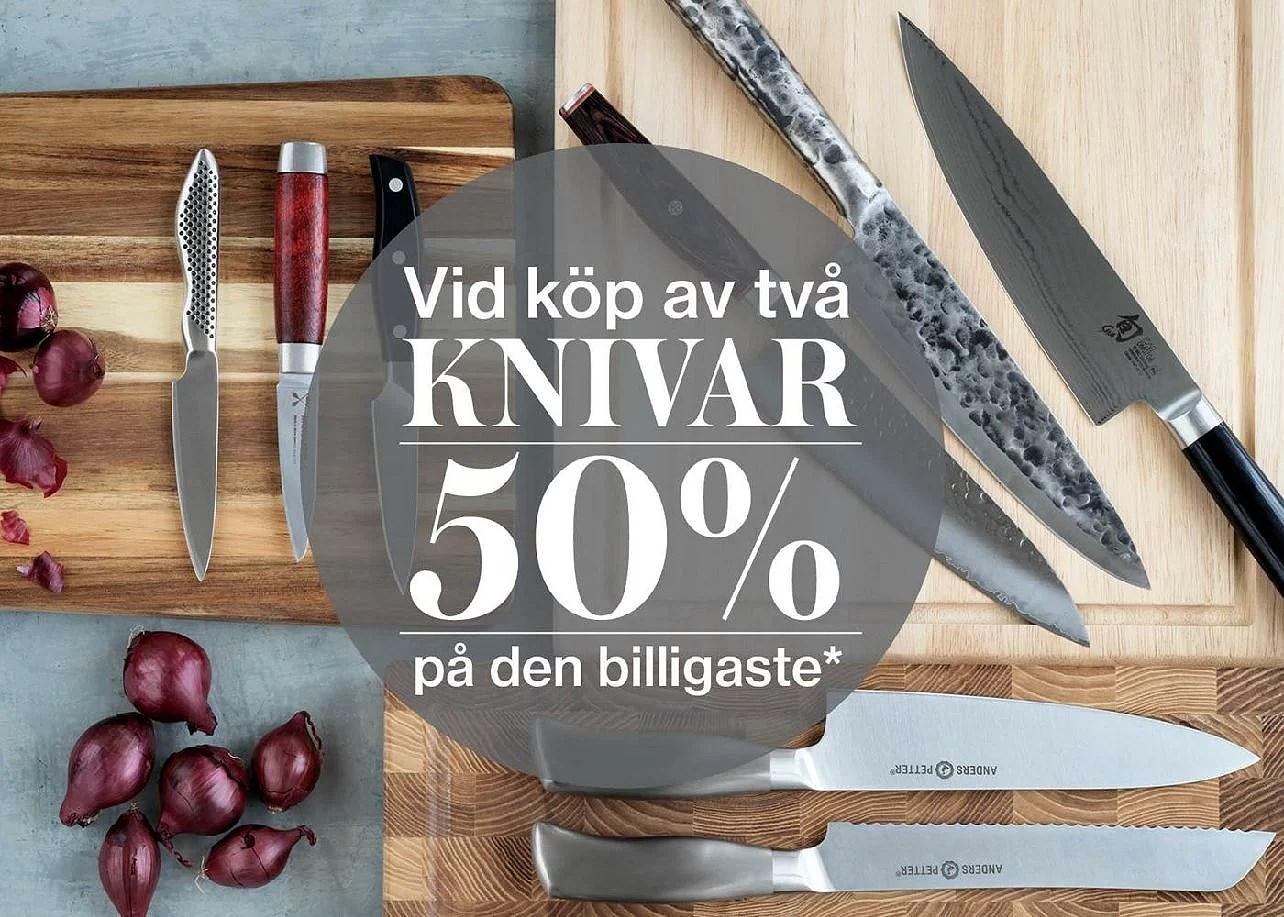 Cervera köp 2 knivar får 50% rabatt på den billigaste!