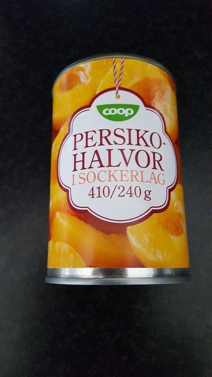 Ricetta facile con le pesche,  lätt recept med persikor i sokerlag