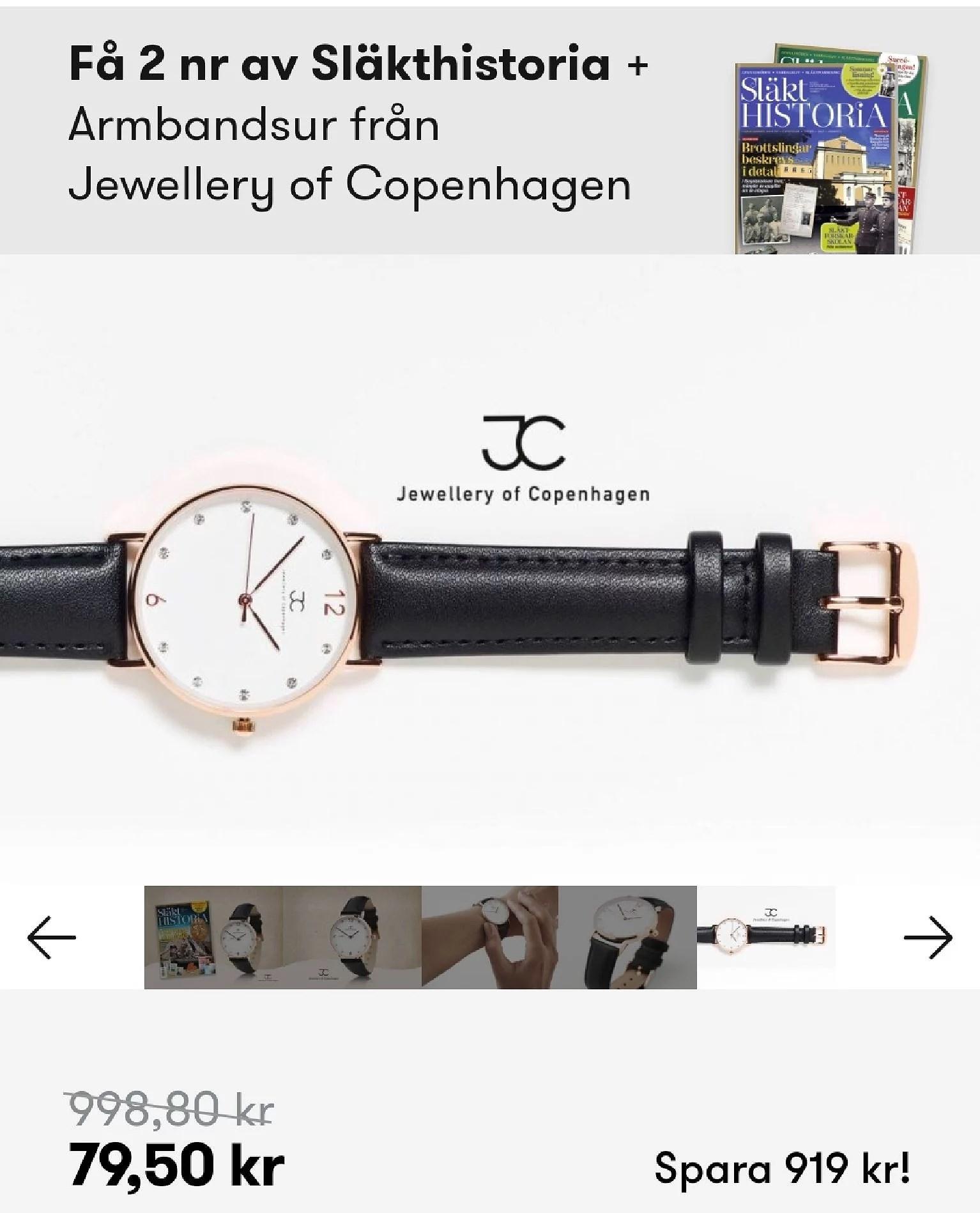 Få en snygg klocka med tidningen Släkthistoria