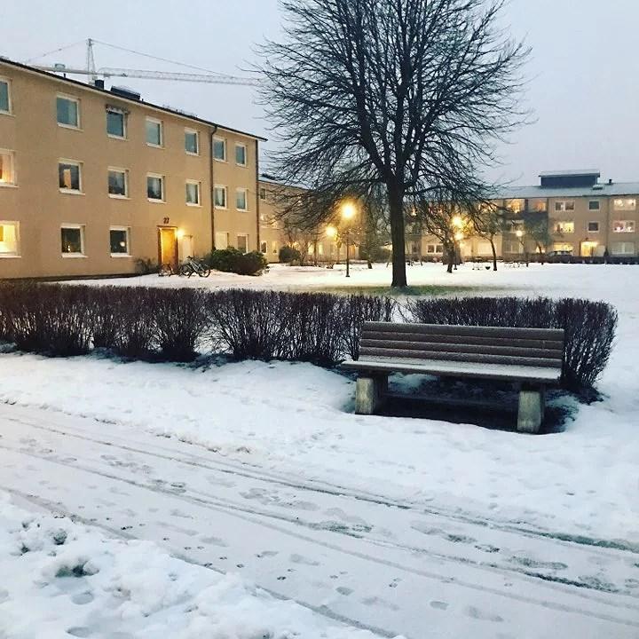 Snön öser ner