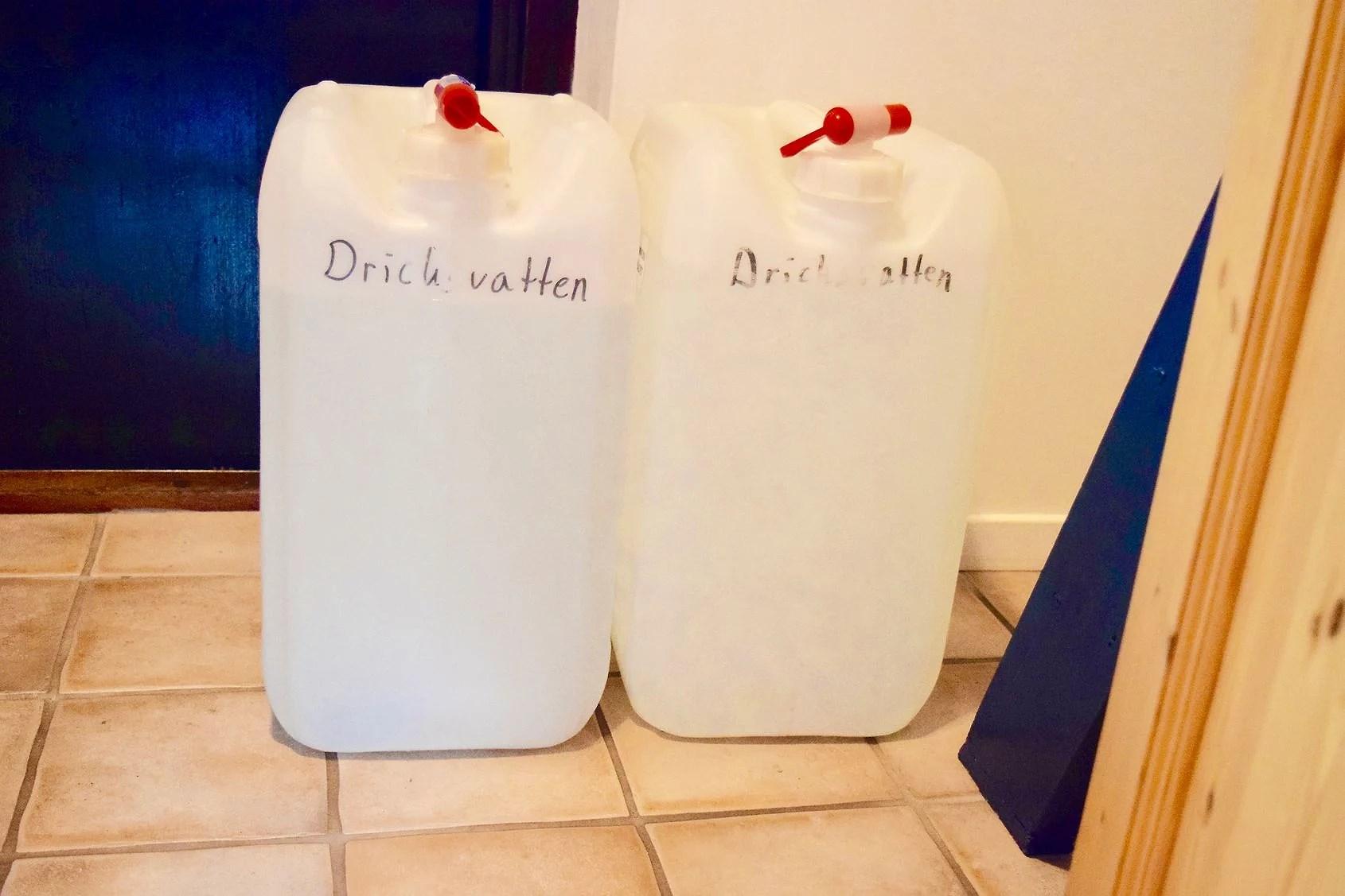 Vi är utan vatten!