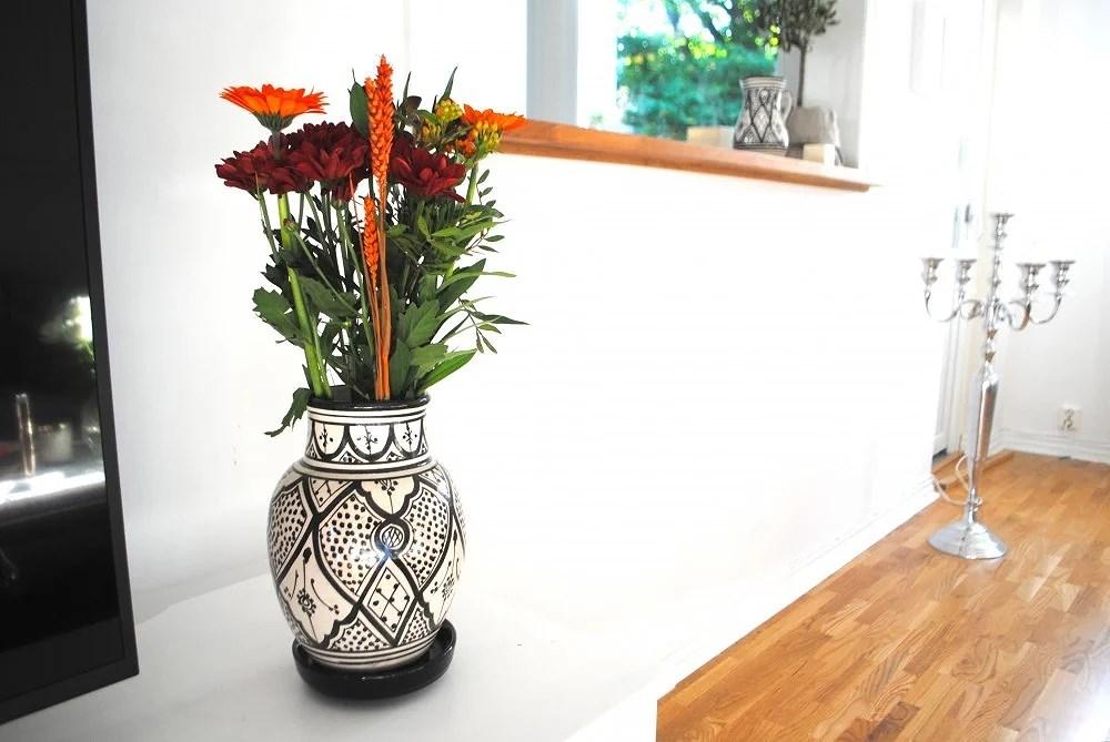 Höstiga blommor och nya vaser