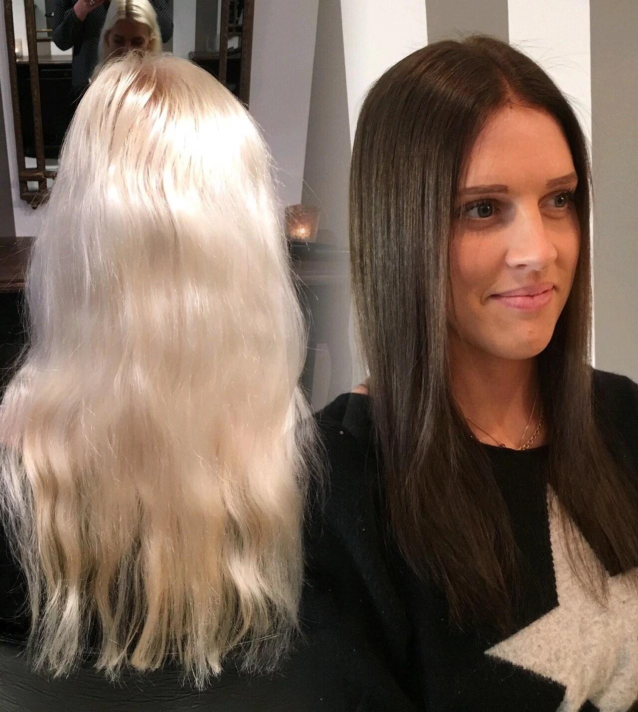 färga platinablont hår