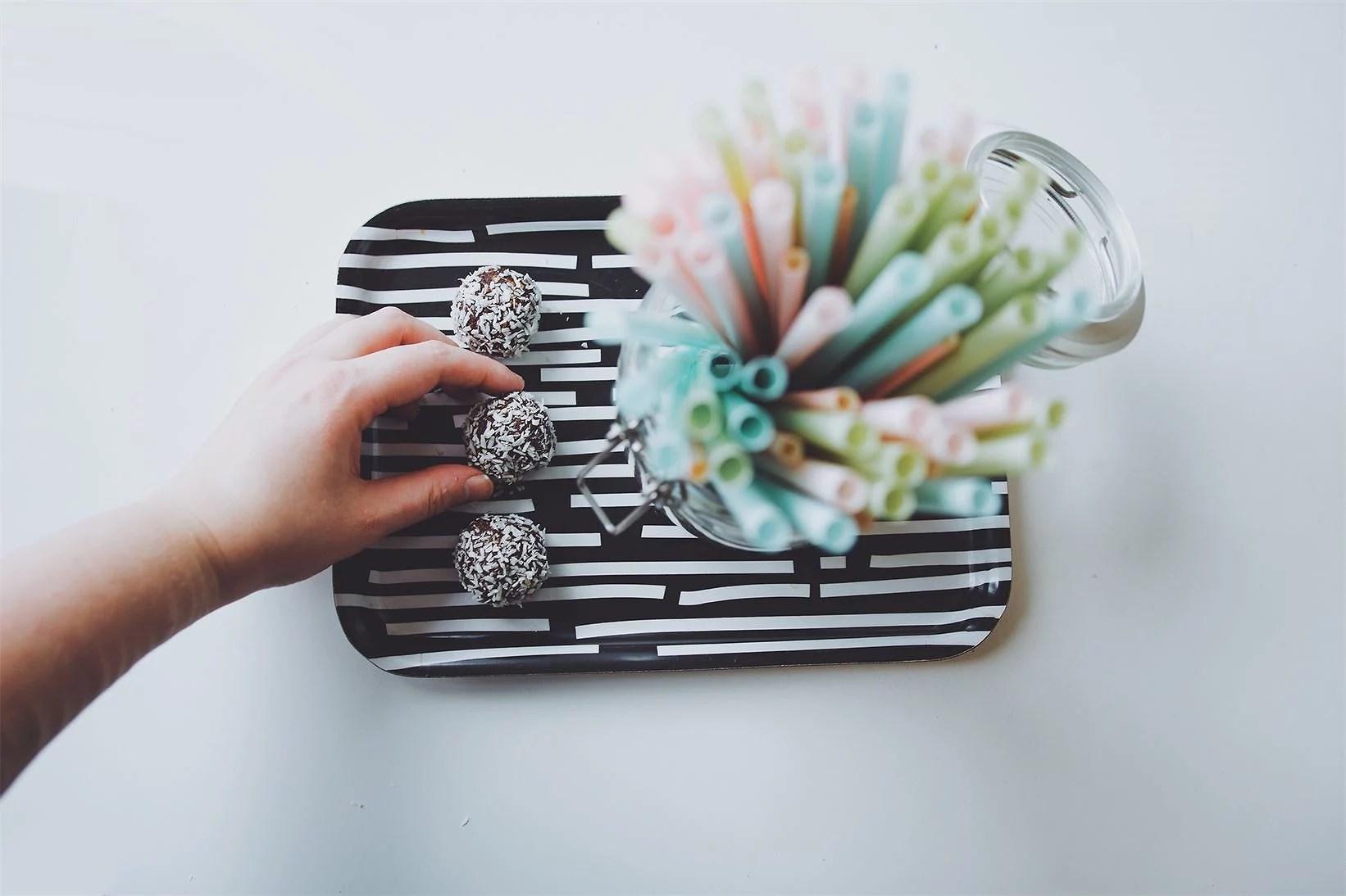❥ Nyttigare chokladbollar
