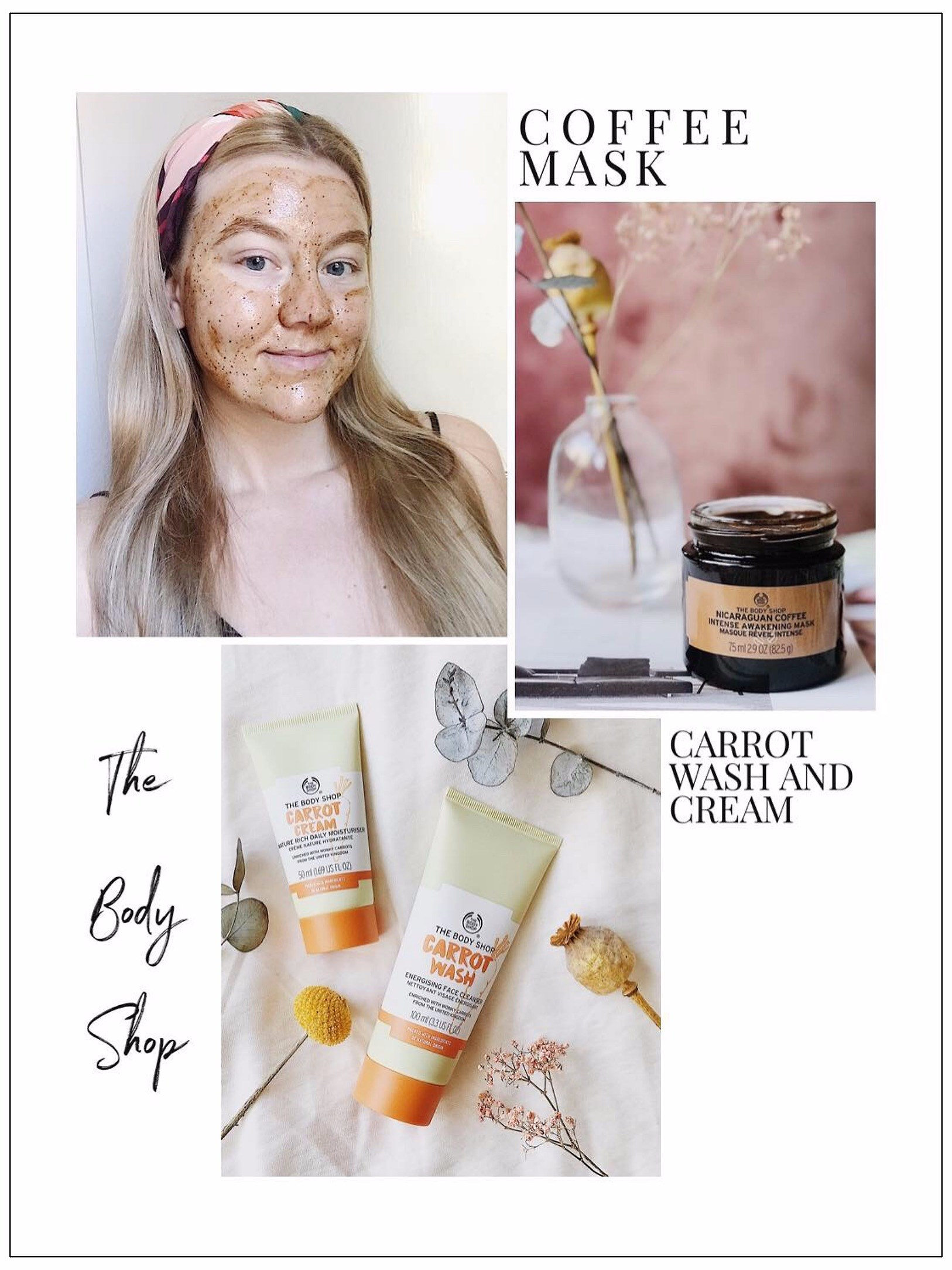 THE BODY SHOP / CARROT & COFFE SKIN CARE