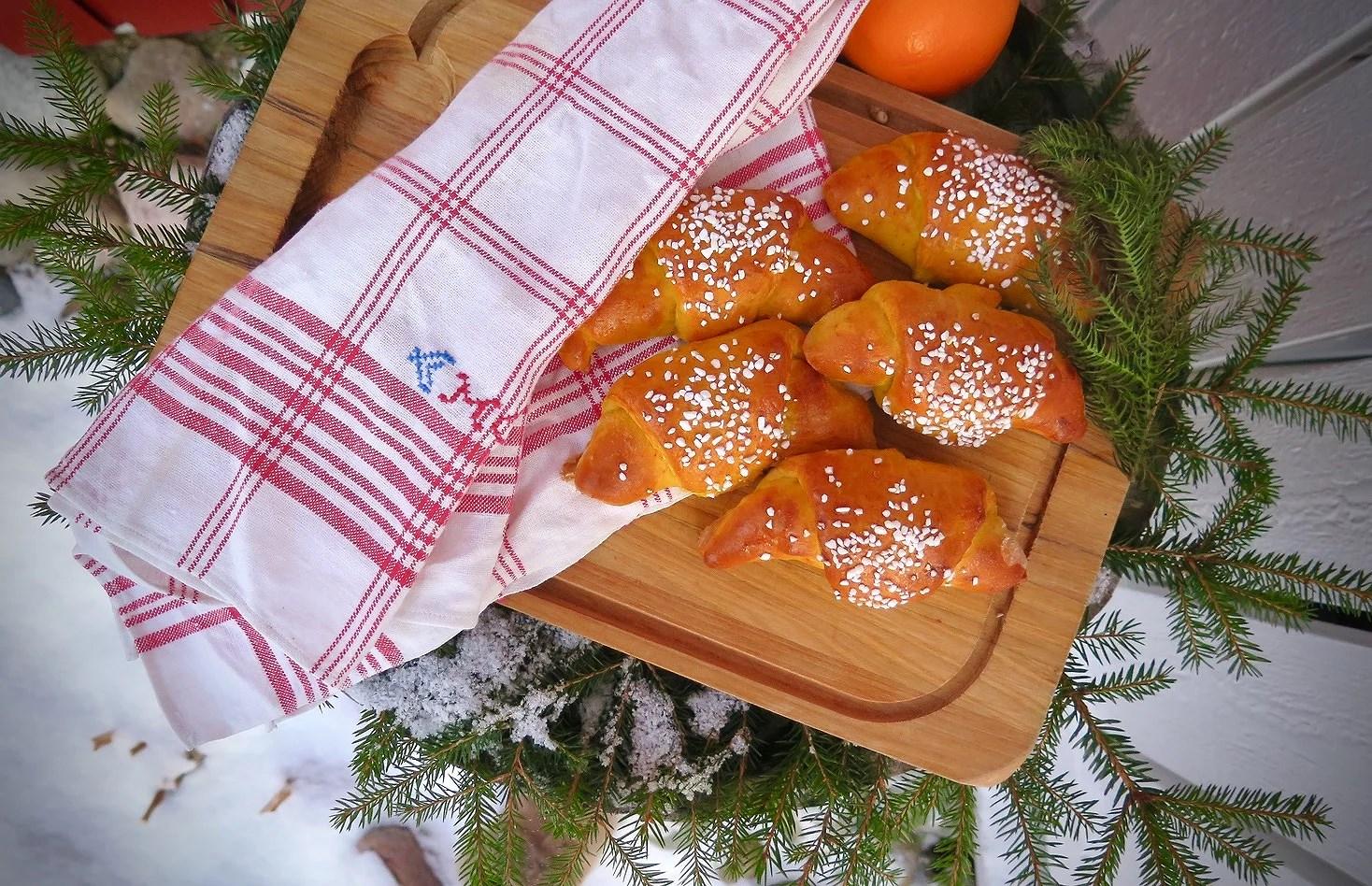 Saffransgifflar med mandelmassa & apelsin