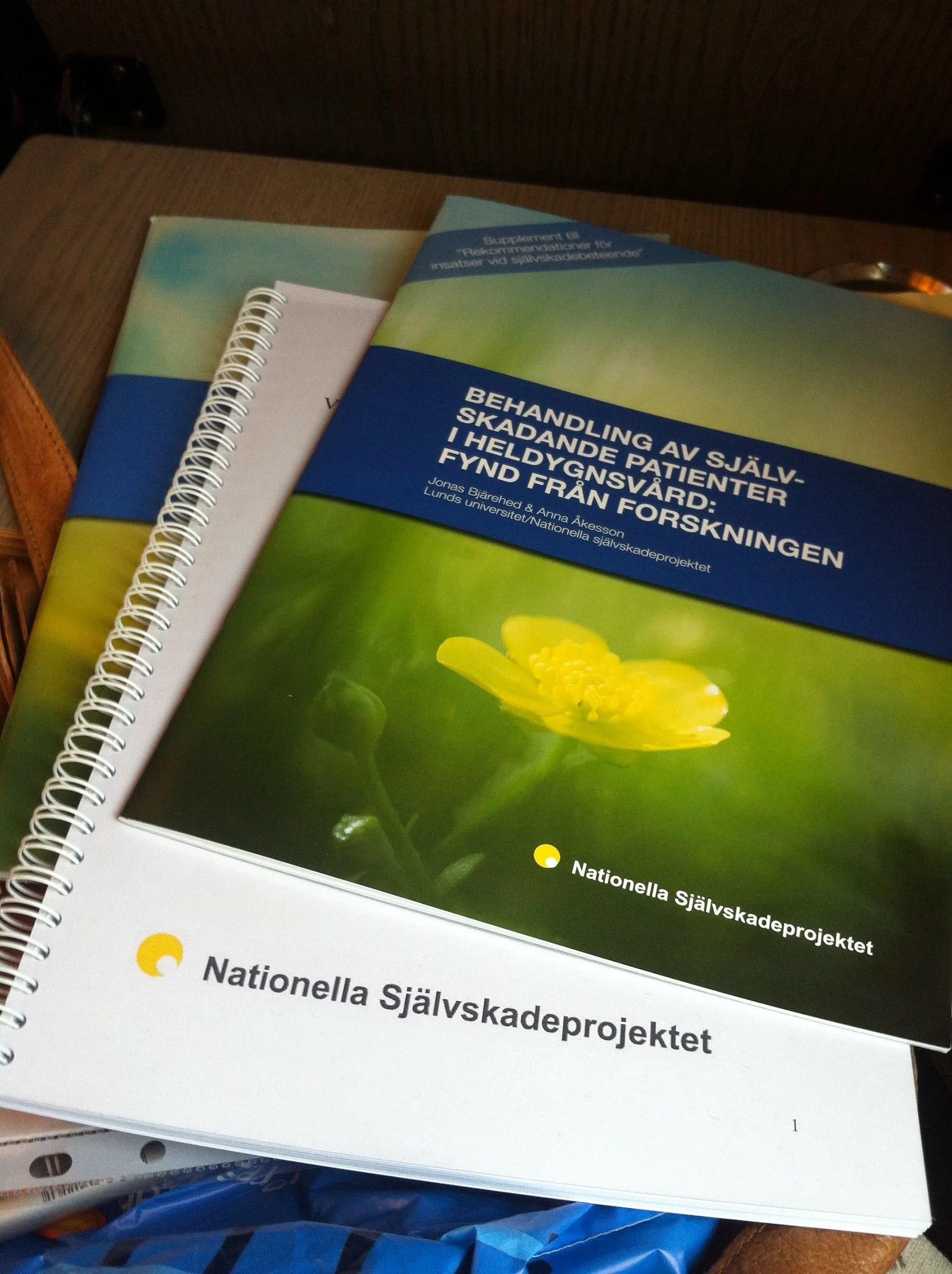 Nationella självskadeprojektet - Viktigt uppdrag