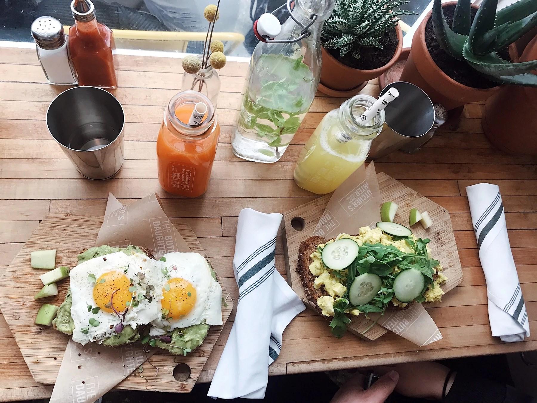 Frukost på Butcher's Daughter