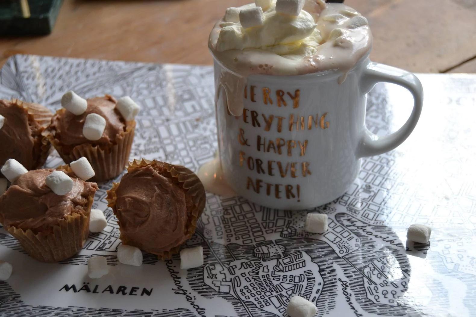 Varmchoklad cupcakes
