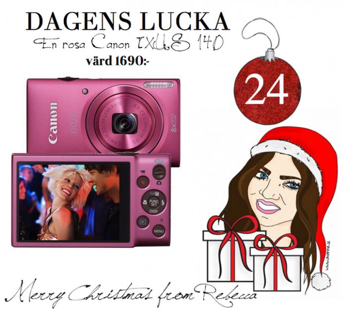 Lucka nr 24: En rosa Canon IXUSS 140 värd 1690:-