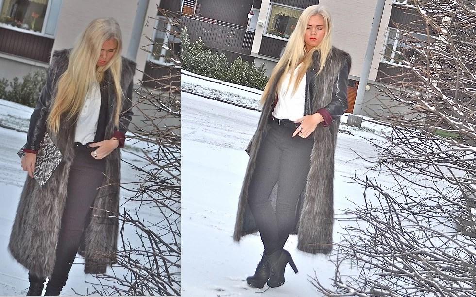 long fur vest.