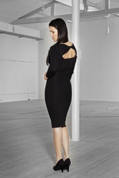 Jeg kunne ikke tage et billede af ryggen på kjolen, så her er image shootet.