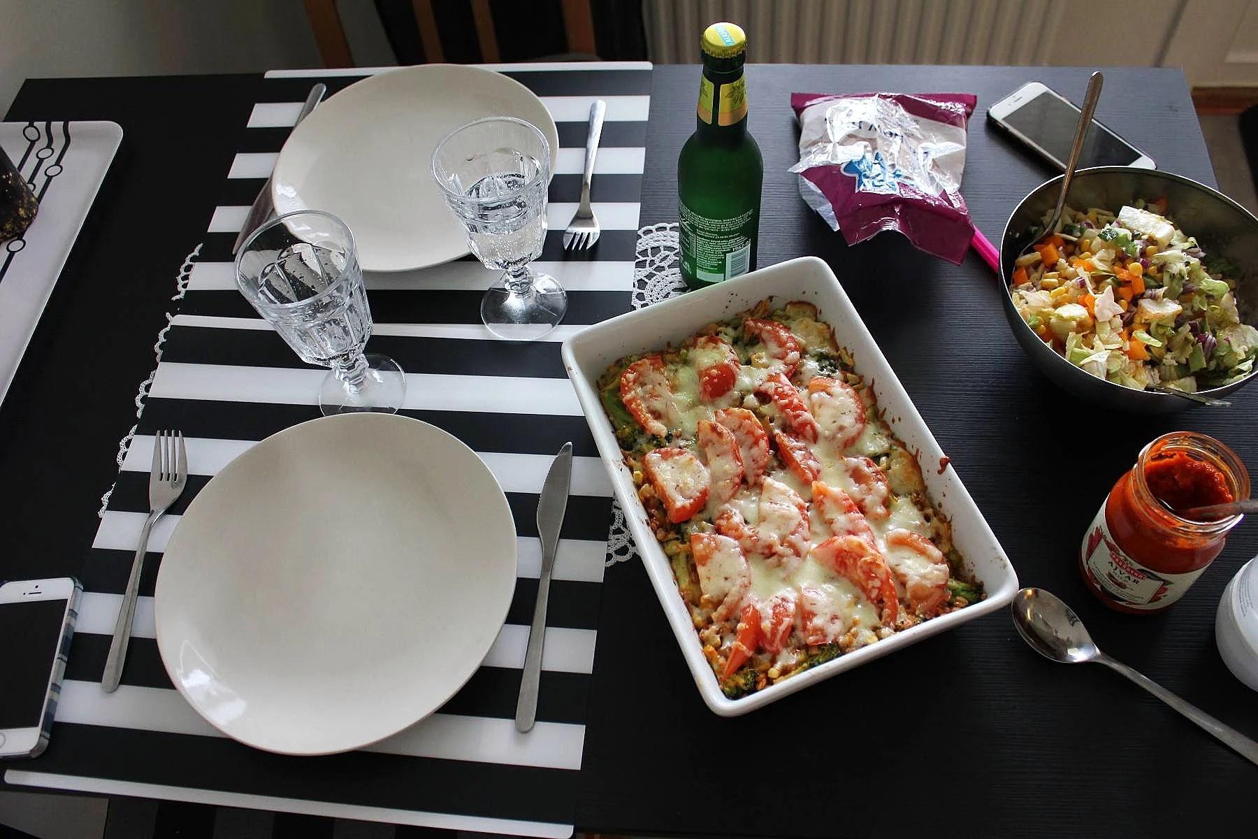 Vegitarisk matlagning med bästa vännen