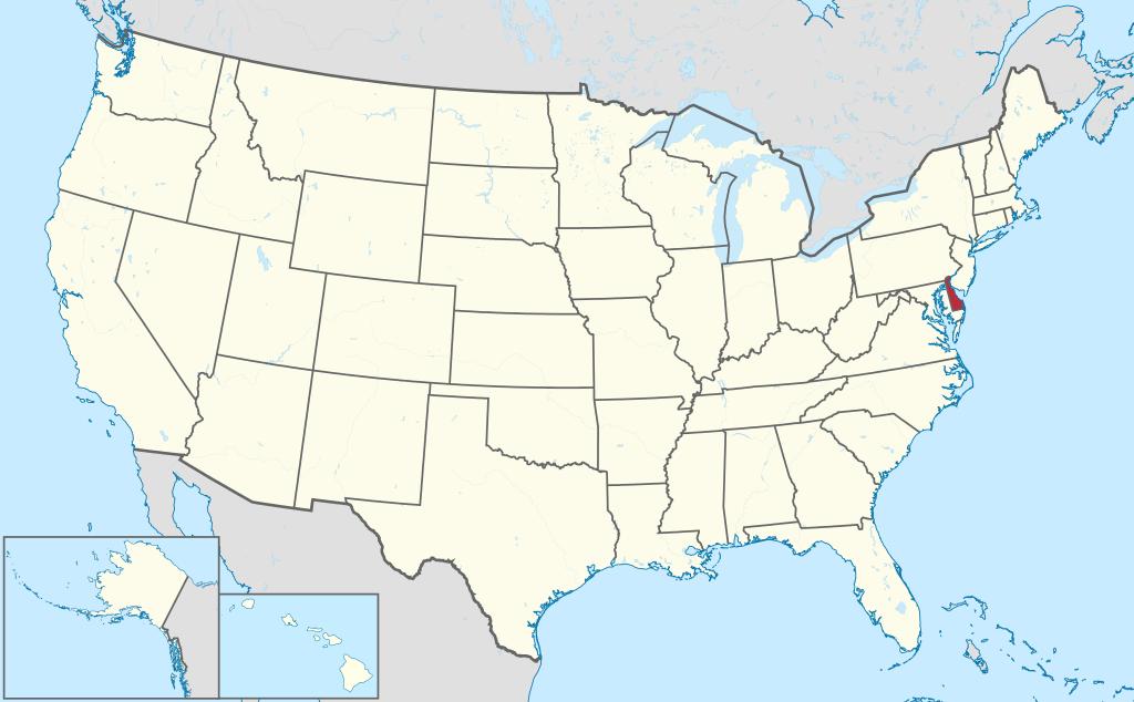 Allmänbildning: Amerikanska delstater: Delaware, New Jersey, Connecticut