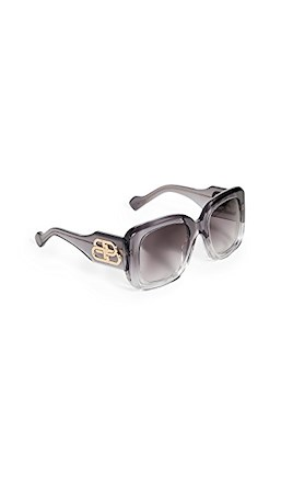 balenciaga paris gray smoke sunglasses