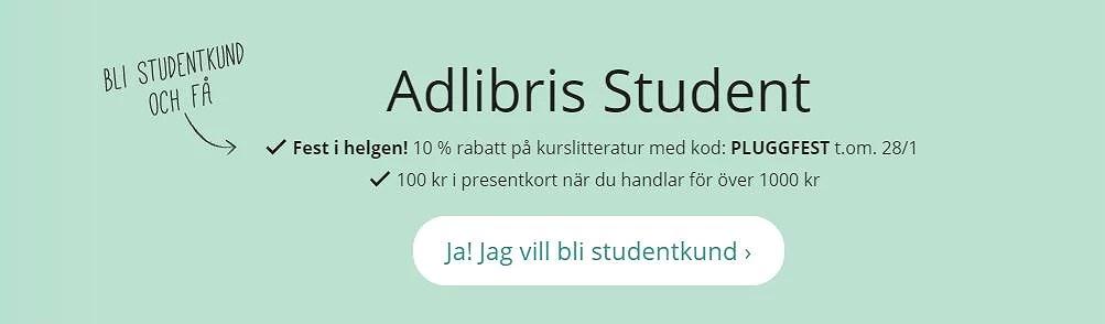 Adlibris rabattkod på kurslitteratur
