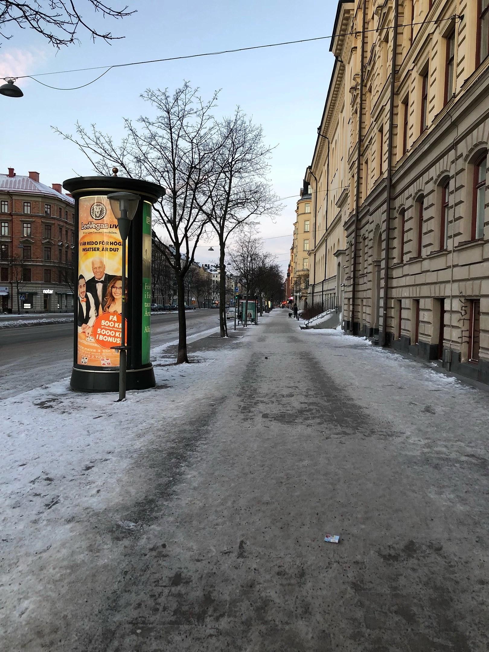 Stan i vinterskrud.