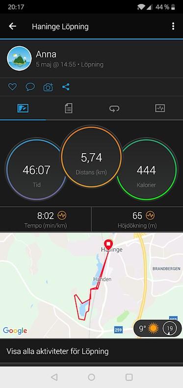 träningsvärk i magen efter löpning