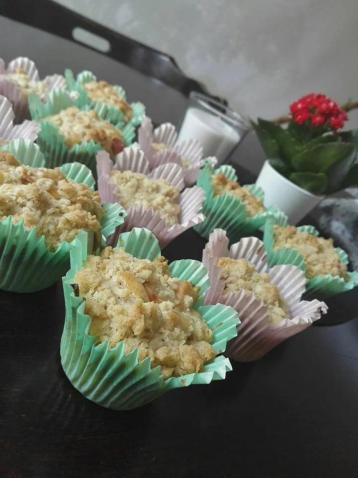 Äpple & kanelmuffins med crunch