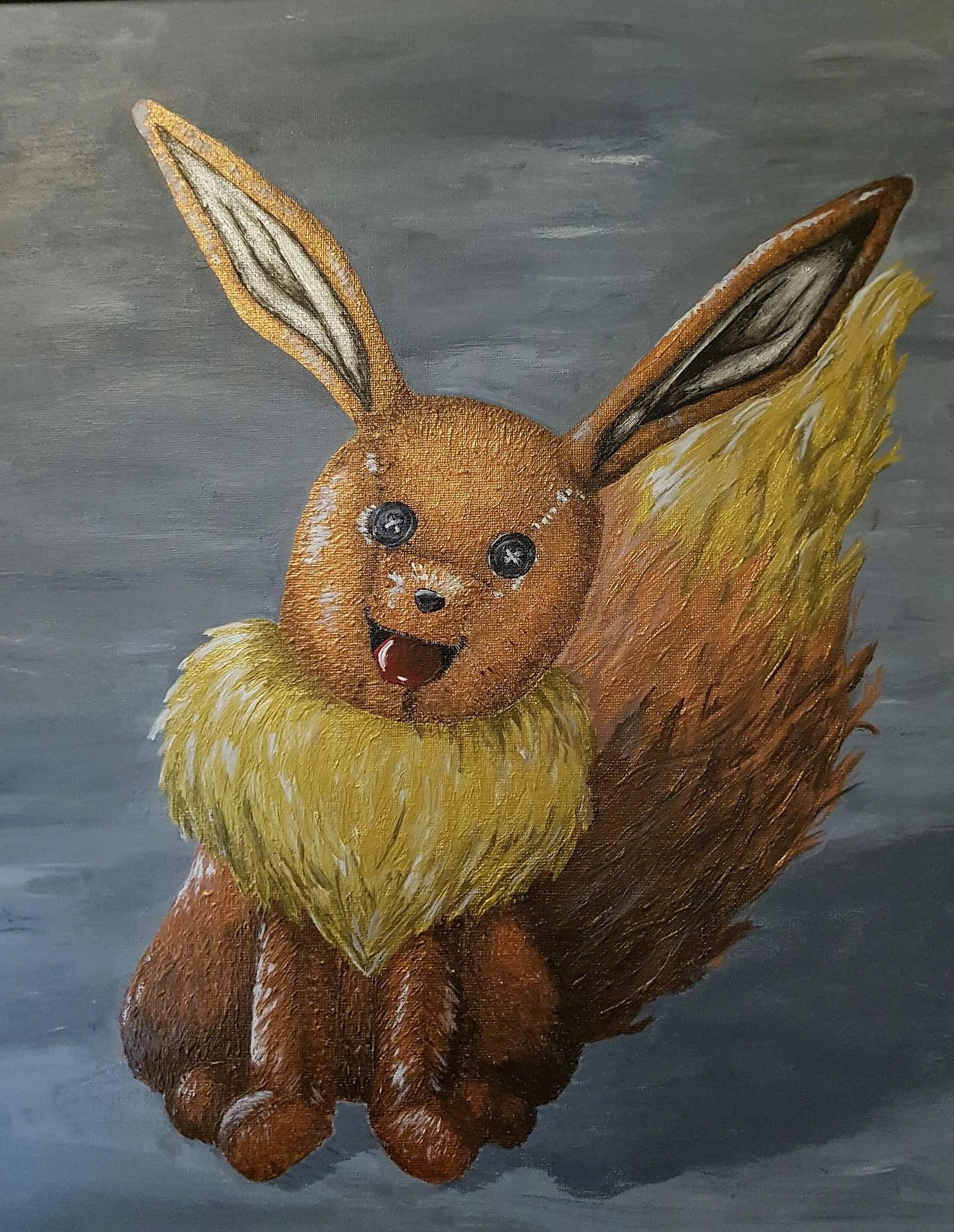 Brun och målandes.