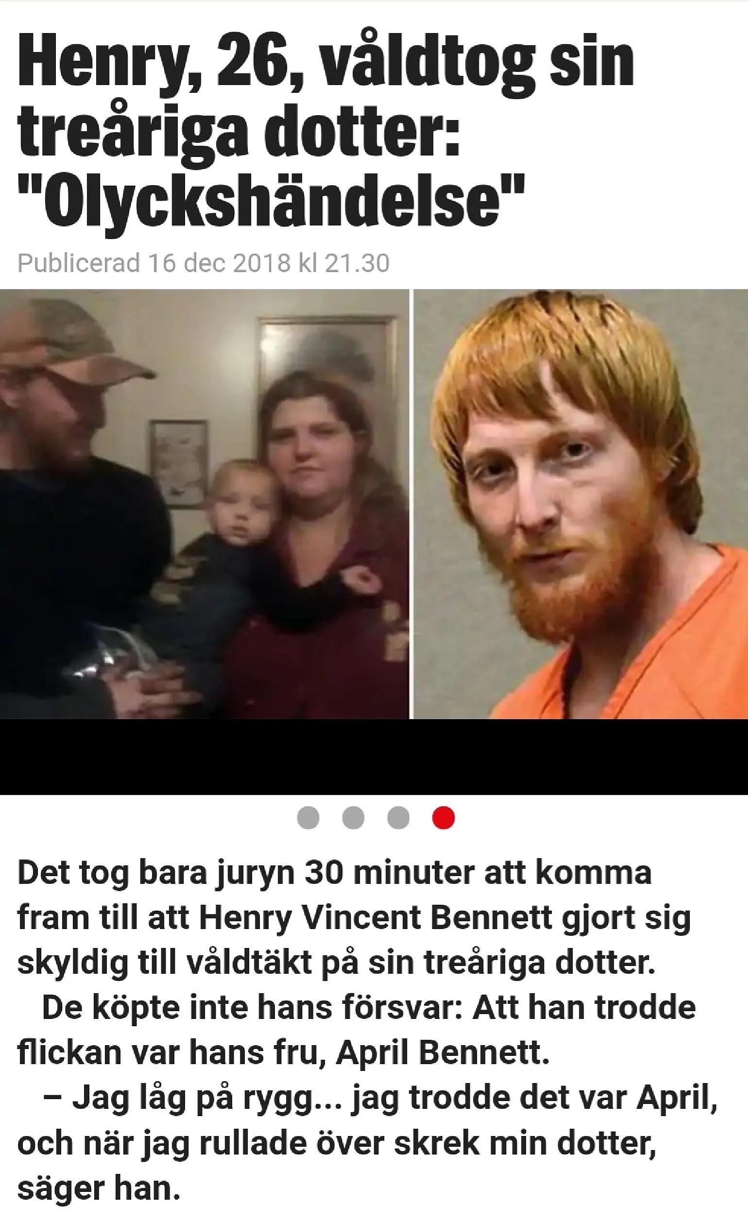 Han våldtog sin treåriga dotter