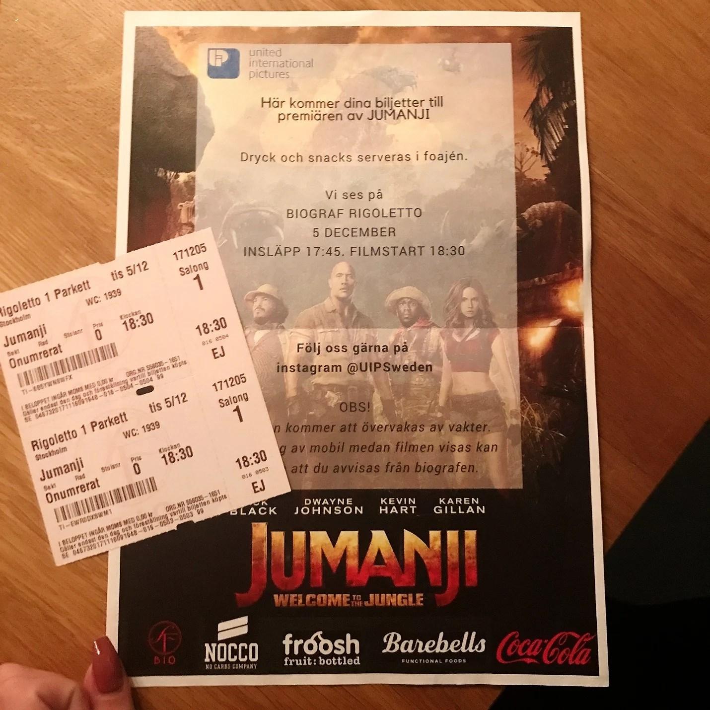 Premiären av Jumanji