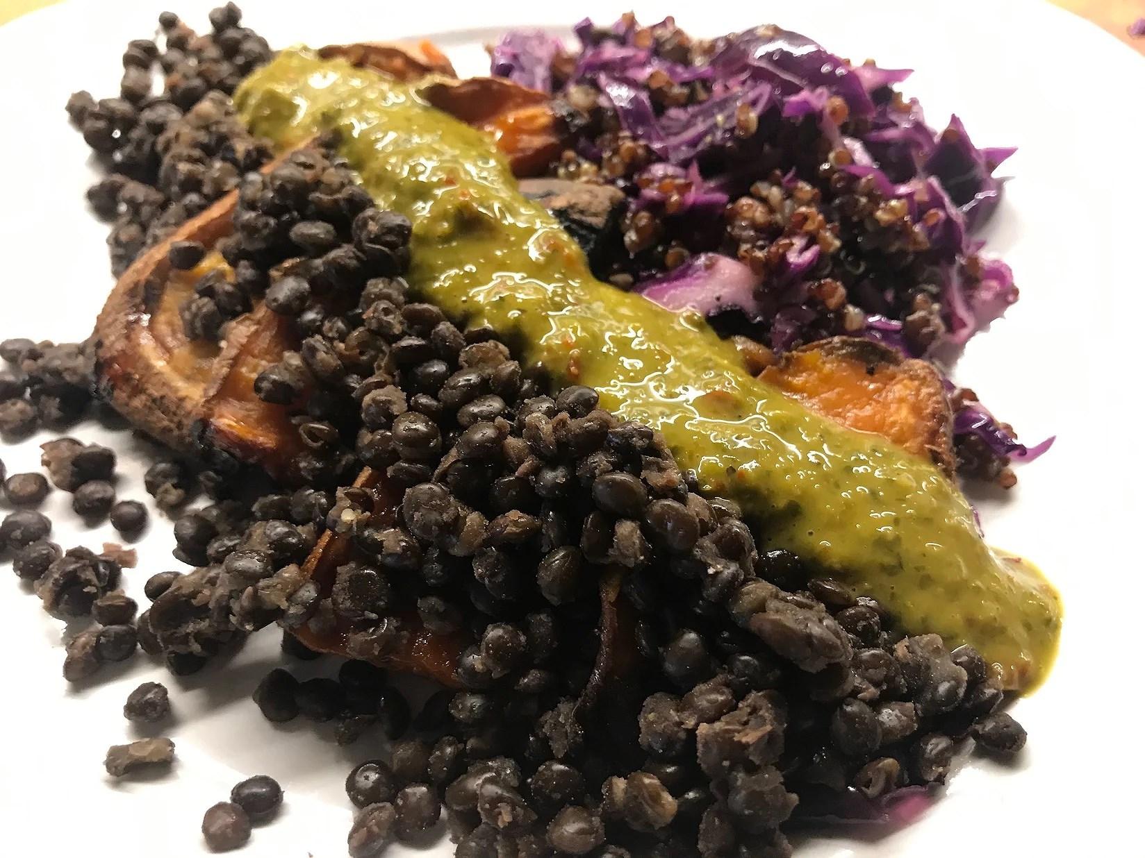 Färgrik och proteinrik vegan middag