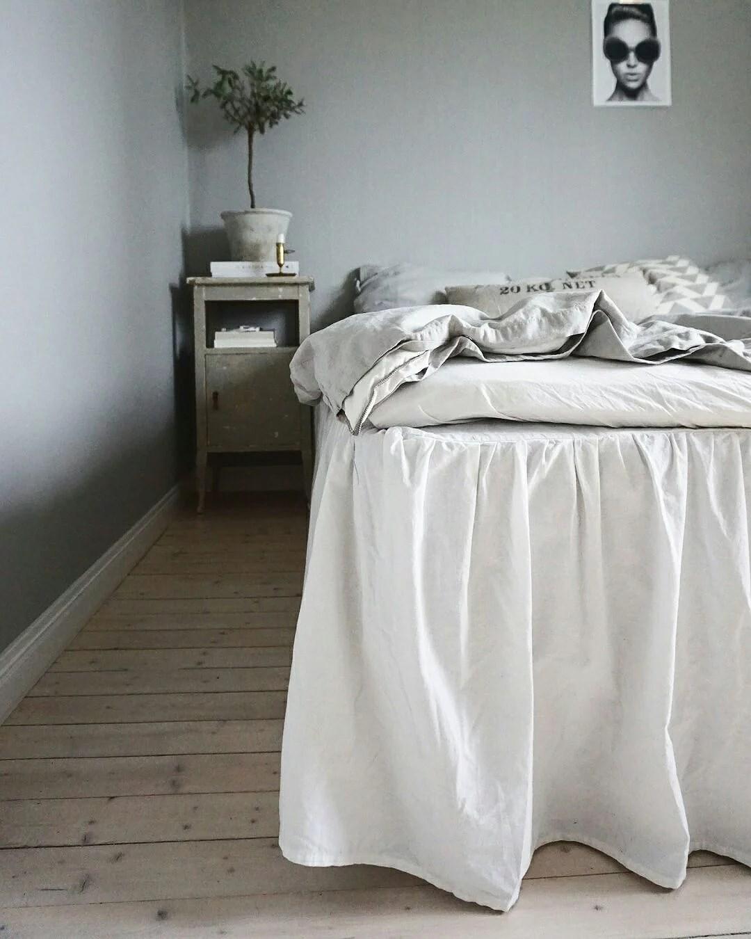 Sovrummet med ny färg