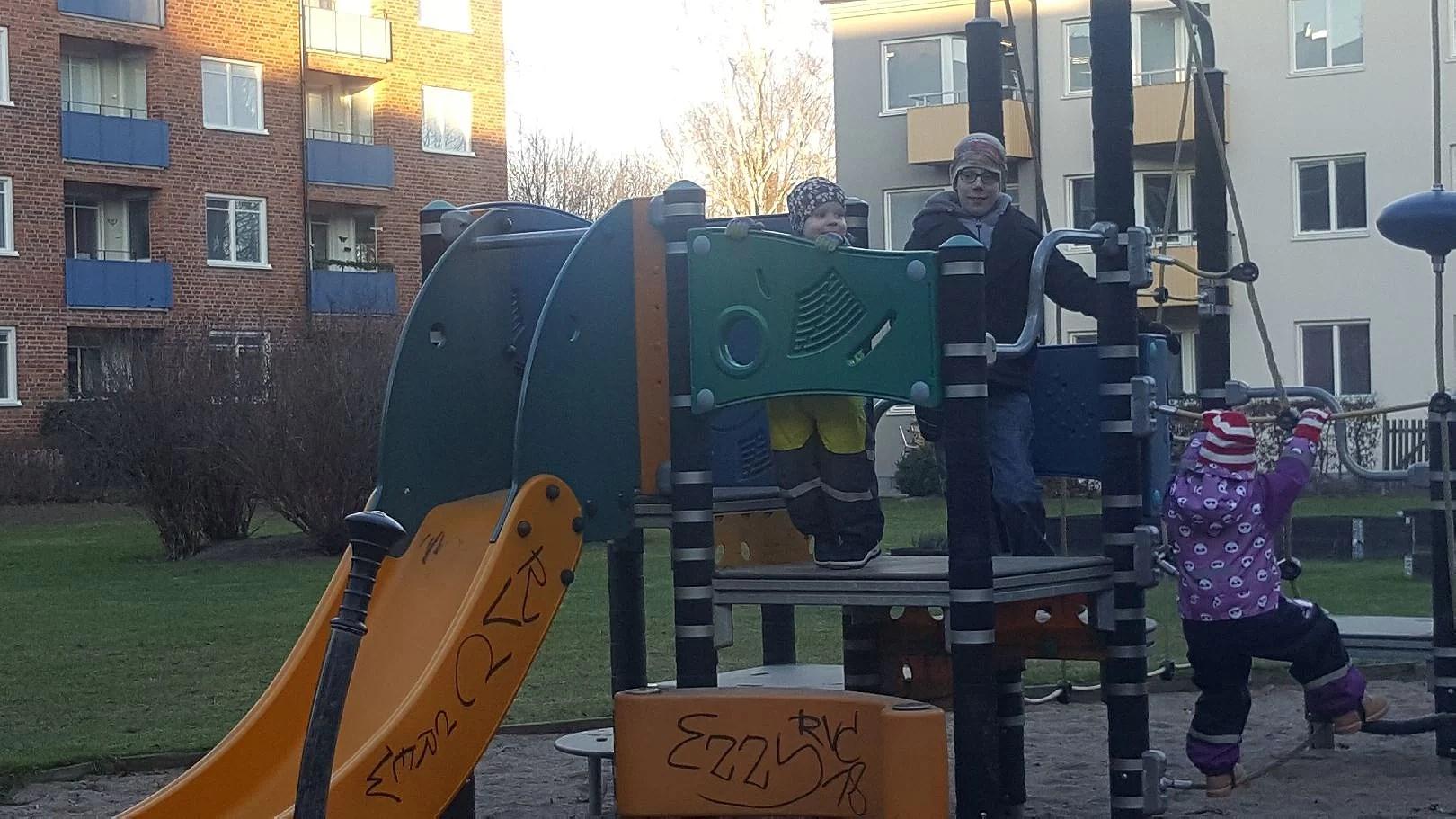 Parkhäng i kylan