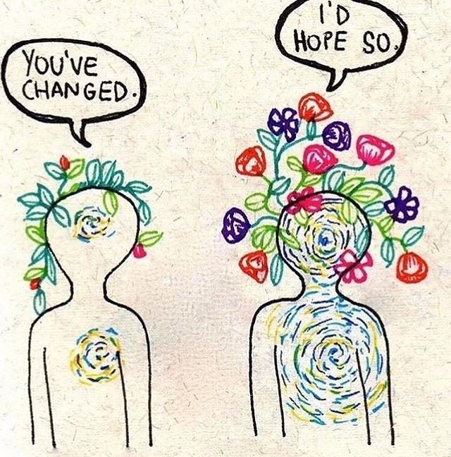 Jag fortsätter processen till att växa