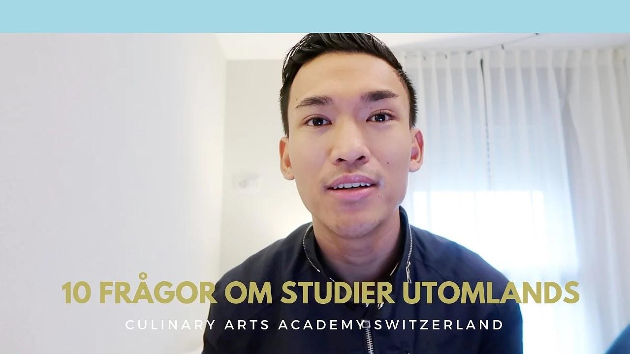 Inför att studera utomlands / Culinary Arts Academy Switzerland | John Mendoza